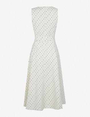 Ted Baker Belted linen-blend midi dress