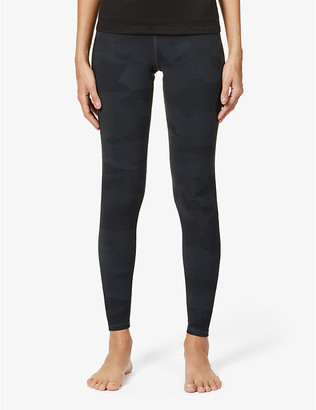 Alo Yoga Vapor camouflage-print high-rise stretch-jersey leggings
