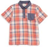 Boy's Peek Plaid Shirt