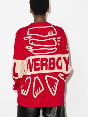 Charles Jeffrey Loverboy Red Graphic Logo Sweater