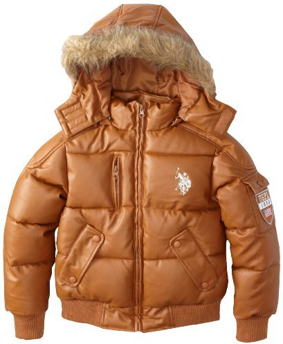 U.S. Polo Assn. U.S. Polo Association Big Girls' Bubble Faux Fur Hooded Jacket