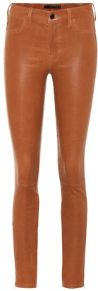 J Brand L8001 mid-rise leather leggings