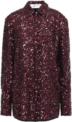 Victoria Victoria Beckham Victoria, Victoria Beckham Sequined Woven Shirt