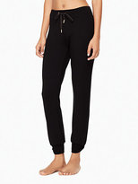 Kate Spade Modal terry relaxed bow long sweatpants