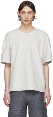 Paul Smith Off-White Leather T-Shirt