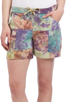 Blue & Rust Tie-Dye Patchwork Shorts