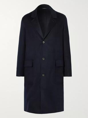 Loro Piana Rain System Cashmere Overcoat - Men - Blue