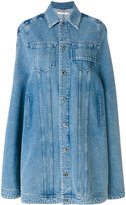 Givenchy denim mid-length cape - women - Cotton/Polyester - 38