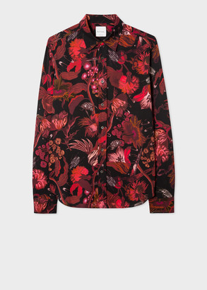 Paul Smith Men's Tailored-Fit Red 'Beetle Botanical' Print Shirt