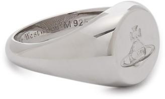 Vivienne Westwood Sigillo Embossed Orb Silver Ring