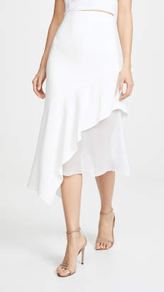 Cushnie High Waisted Asymmetrical Hem Skirt