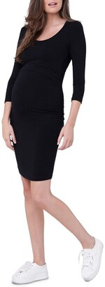 Ripe Nursing Tube Dress 3/4 Sleeves