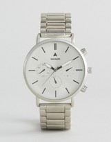Asos Bracelet Watch in Brushed Silver