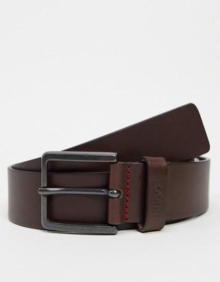 HUGO BOSS Gionio leather belt in brown