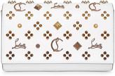 Christian Louboutin Paloma white leather clutch bag