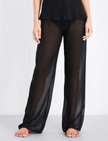 Marjolaine Wide-leg silk-chiffon pyjama bottoms