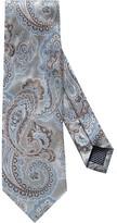 Eton Grey Jacquard Paisley Tie