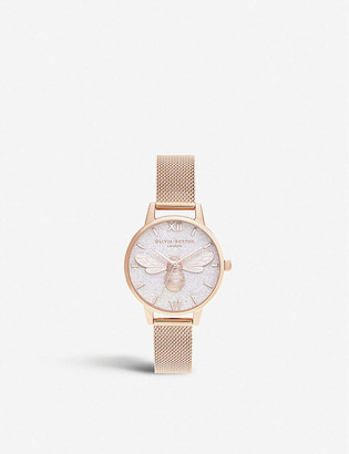 Olivia Burton OB16FB04 rose-gold ion-plated stainless-steel watch