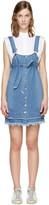 Sjyp Blue Denim Button Dress