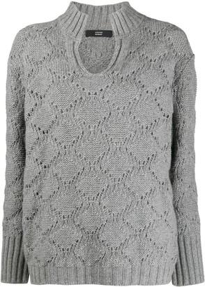 Steffen Schraut Knitted Fleece Jumper