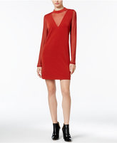 BCBGeneration Mock-Neck Illusion Dress