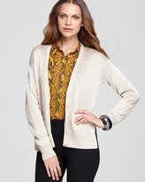 Vince Camuto Button Down Lurex Cardigan