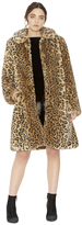 Alice + Olivia Kinsley Faux Fur Oversize Midlength Coat