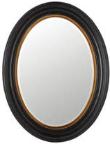 OKA Kildare Oval Mirror, Painted Black Wood