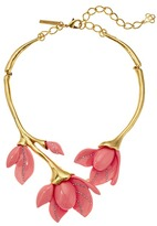 Oscar de la Renta Magnolia Resin Flower Necklace