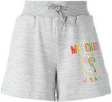 Moschino logo print shorts - women - Polyester/Viscose - 38