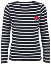 Comme des Garcons embroidered heart striped jumper