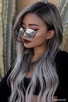 Forever 21 FOREVER 21+ MELT Flat Cateye Sunglasses