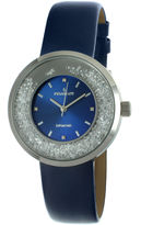 Peugeot Womens Diamond-Accent Blue Leather Strap Watch 3041SBL
