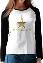 Parisama-oran-Adults Women's Musical Hamilton Star Logo Long Sleeve Baseball Raglan Shirts M