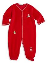 Kissy Kissy Baby's Merry & Bright Velour Footie
