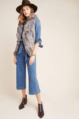 Bagatelle Jacquie Draped Faux Fur Vest