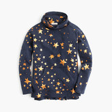 J.Crew Girls' metallic star turtleneck sweatshirt