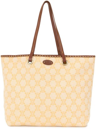 Céline Pre-Owned pre-owned Macadam studded tote bag