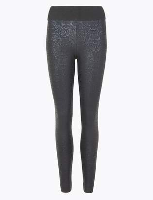M&S CollectionMarks and Spencer Animal Print Coated Leggings