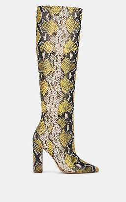 Ulla Johnson Women's Jerry Python-Print Leather Knee Boots - Beige, Tan