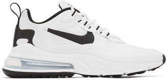 Nike White and Black Air Max 270 React Sneakers