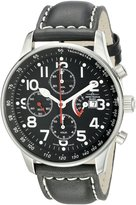 Zeno Men's P557PR-A1 Retro Leather Strap Chronograph Dial Watch