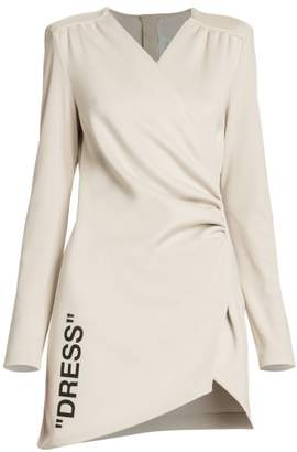 Off-White Off White Long-Sleeve Wrap Dress
