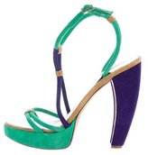 DSQUARED2 Colorblock Suede Sandals
