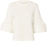 See by Chloé Ruffle Detail Flared Sleeve Top