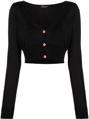 Versace cropped V-neck cardigan
