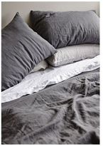 IN BED Linen Duvet Set - Charcoal