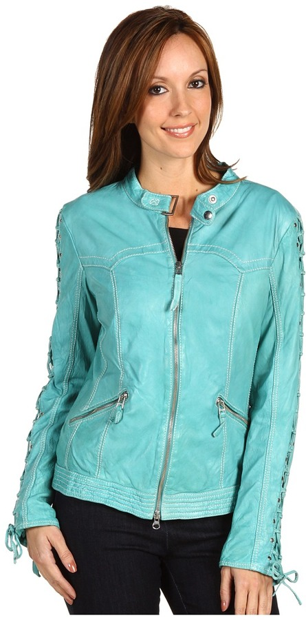 Scully Ladies Lace Sleeve Jacket (Blue River) - Apparel