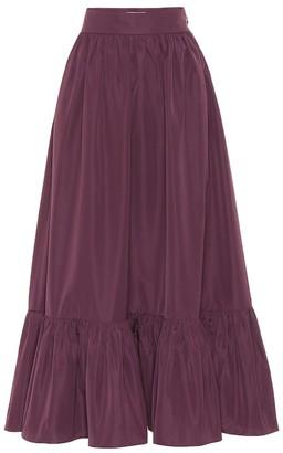 Valentino Cotton-blend twill skirt