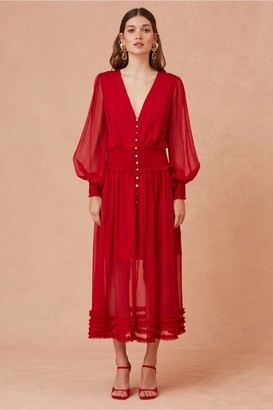 Keepsake MOONLIGHT MIDI DRESS scarlet